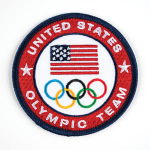 Sochi 2014 Winter Olympics Space Flown Patch and Team USA Multi-signed Card