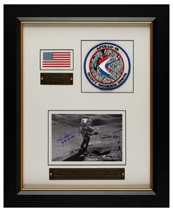 Dave Scott's Apollo 15 Flown Flag Display