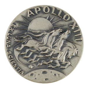 Fred Haise's Apollo 13 Flown Robbins Medallion