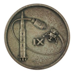 Jim McDivitt's Apollo 9 Flown Robbins Medallion