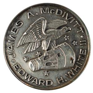 Jim McDivitt's Gemini 4 Flown Fliteline Medallion