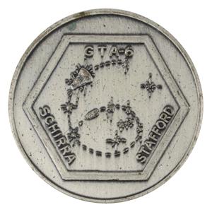 Wally Schirra's Gemini 6 Flown Fliteline Medallion