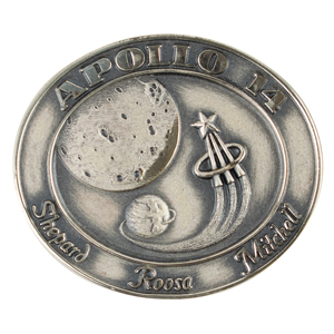 Edgar Mitchell's Apollo 14 Flown Robbins Medallion