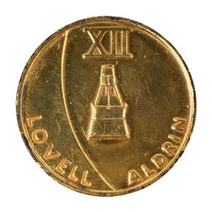 Buzz Aldrin's Gemini 12 Flown Gold-Plated Fliteline Medallion