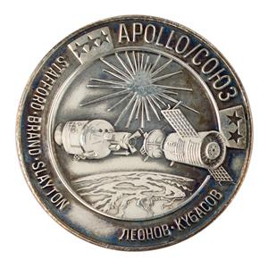 Tom Stafford's Apollo-Soyuz Flown Robbins Medallion