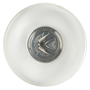 Al Worden's Apollo 15 Flown Robbins Medallion