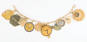 Jo Schirra's Mercury Era Flown Charm Bracelet
