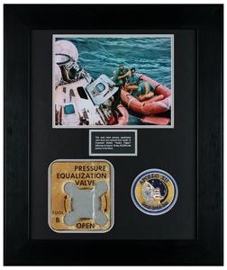 Apollo 12 Flown Command Module Pressure Equalization Valve Decal
