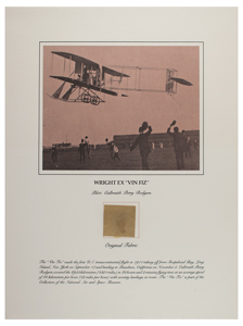 Wright Brothers Vin Fiz Fabric Swatch