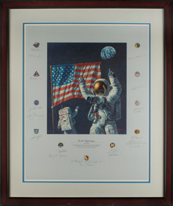 Wally Schirra's Apollo Astronauts (20) Signed Lithograph