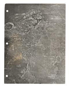 Gene Cernan's Apollo 17 Flown CSM Lunar Landmark Map