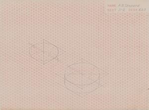 Alan Shepard Hand-Drawn Technical Diagram
