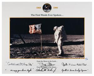 Buzz Aldrin and Charlie Duke