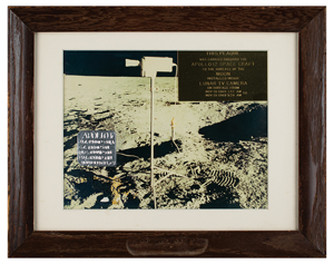 Apollo 12 Lunar Surface Flown Television Camera Plaque