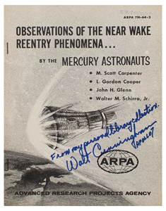 Walt Cunningham's Project Mercury 'Near Wake Reentry Phenomena' Manual