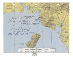 Apollo 10 Flown Earth Map