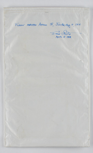 Apollo 15 Flown Towel Assembly Bag