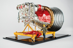 Saturn F-1 Engine Model