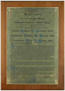 Gene Cernan's City of Chicago 'Apollo 10 Day' Proclamation