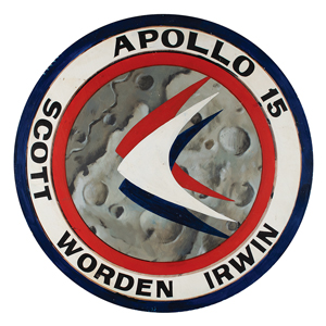 Al Worden's Apollo 15 Hand-Painted Mission Insignia Wall Display