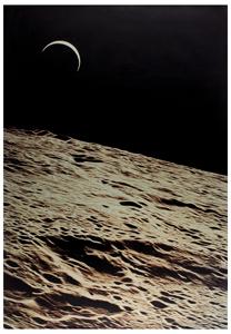 Al Worden's Lot of (2) Oversized Moon Prints