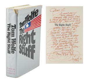 Al Worden's Tom Wolfe Signed Book