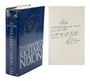 Al Worden's Richard Nixon Signed Book