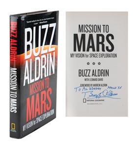 Al Worden's Buzz Aldrin Signed Book