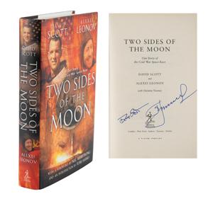Al Worden's Dave Scott and Alexei Leonov Signed Book