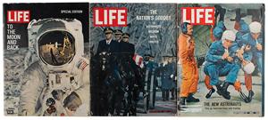 Al Worden's Lot of (3) Life Magazines