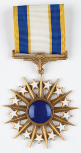 Al Worden's Air Force Distinguished Service Medal and Certificate