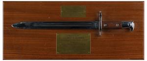 Al Worden's USMA Bayonet Presentation Plaque