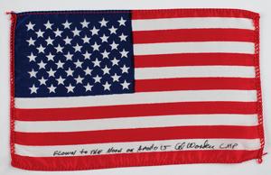 Al Worden's Apollo 15 Lunar Orbit-Flown Flag