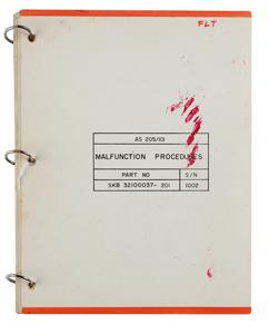 Al Worden's Apollo 7 Command Module Malfunction Procedures Manual