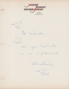 Al Worden's Letter from Fred Rogers