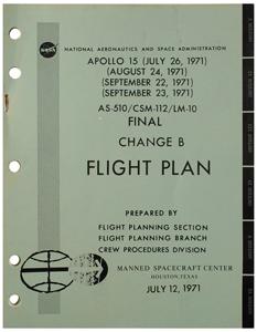 Al Worden's Apollo 15 Flight Plan (Final Change B)