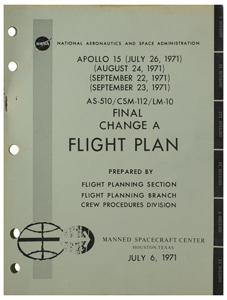 Al Worden's Apollo 15 Flight Plan (Final Change A)