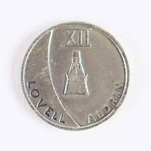 Al Worden's Gemini 12 Flown Fliteline Medallion