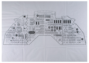Al Worden's Oversized Apollo Command Module Panel Diagram