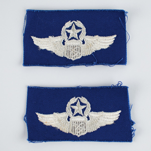 Al Worden's Lot of (2) USAF Command Pilot Astronaut Patches