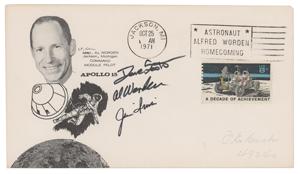 Al Worden's Apollo 15 Crew-Signed Cover
