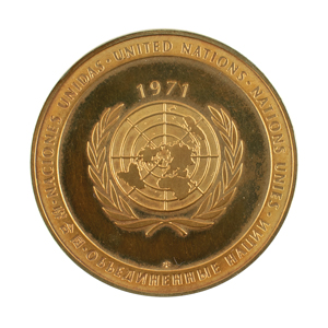 Al Worden's 1971 United Nations Peace Medal