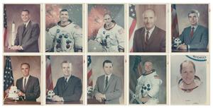 NASA Astronauts (10) Original 'Type 1' Photographs