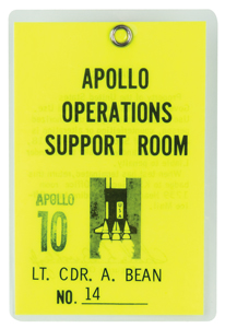 Alan Bean's Apollo 10 Operations Support Room Badge