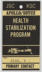 Alan Bean's Apollo-Soyuz Health Stabilization Program Badge