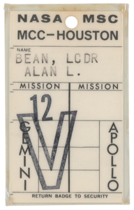 Alan Bean's Gemini 12 MSC MCC-Houston Badge