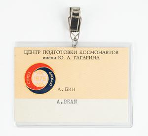 Alan Bean's Apollo-Soyuz Star City Access Badge