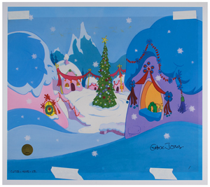 Cindy-Lou Who production cel and drawing from How the Grinch Stole Christmas! Signed by Chuck Jones