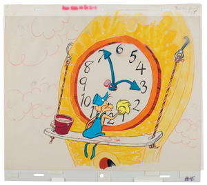 Clock washer production cels and background from Horton Hears a Who!