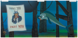 Don Knotts signed limited edition hand-painted cel for The Incredible Mr. Limpet